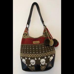 Billabong Knitted Skull HoBo Bag